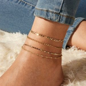 3/$30 💛 4pc Chain Anklet